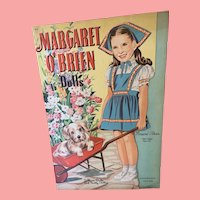 Original. Uncut 1944 Margaret O'Brien paper dolls