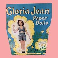 Uncut 1941 Gloria Jean paper dolls