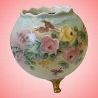 Beautiful Austrian hand painted rose bowl