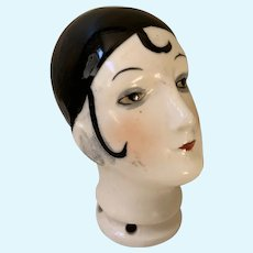 Vintage German doll head for pin cushion