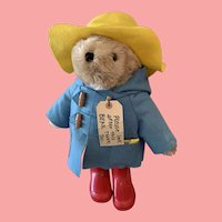 "Vintage 17"" Paddington bear with books"