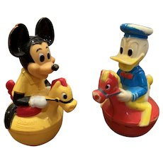 Vintage Disney Mickey and Donald Rollys