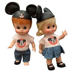 Vintage horseman Mouseketeer dolls.