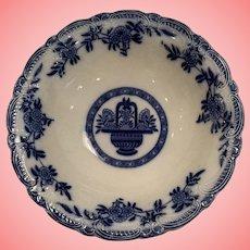 Beautiful Flow blue basket bowl