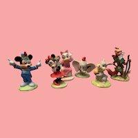Vintage Disney Bisque character figures