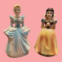 Vintage Disney snow white and Cinderella figurines