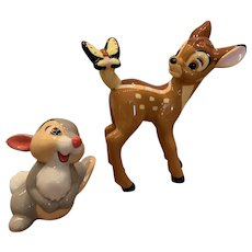 Vintage Disney Bambi's and thumper