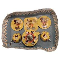 Vintage Disney tin tea set , England