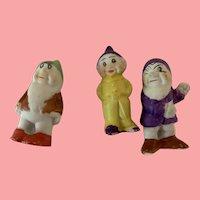 Sweet tiny 3 vintage Disney dwarfs