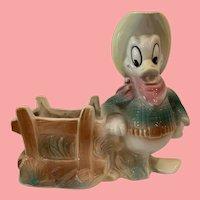 Vintage Disney Donald Duck Planter