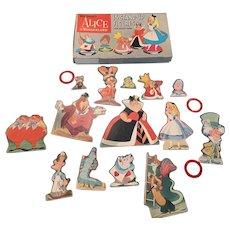 Rare Disney Alice in wonderland stand up figures