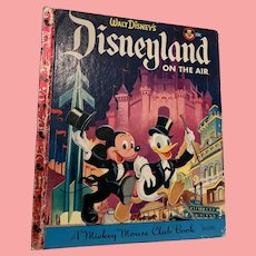 1955 first edition Disneyland on the air, little golden book