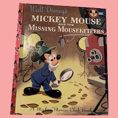 Disney's  The Missing Mouseketeer, little golden book