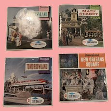 Four mint Disneyland view master packets