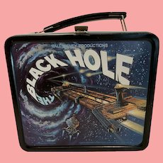 Vintage Disney Black Hole tin lunch box