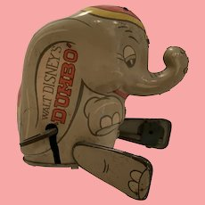 Vintage Louis Marx Disney dumbo tin hopper
