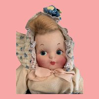 Fabulous 1950's molded  face cloth Dutch girl