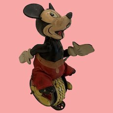 Wonderful Marx Mickey Mouse on unicycle.