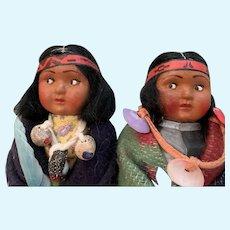 Mint  vintage skookum dolls