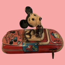 Vintage Marx Mickey driving car