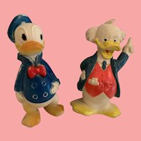Vintage Disney Ludwig vonDrake and Donald squeekies