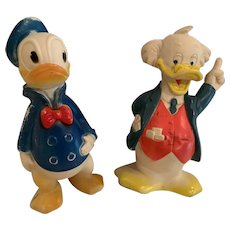 Vintage Disney Ludwig vonDrake and Donald squeekies