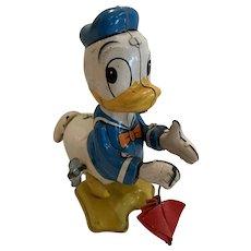Vintage Disney Linemar Donald Duck tail twirler