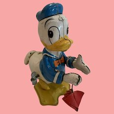 Vintage Disney Linemar Donald Duck tail twirler