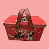 Vintage Disney Pinocchio tin lunch box