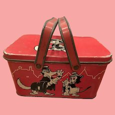 Vintage Disney Pinocchio tin lunch box