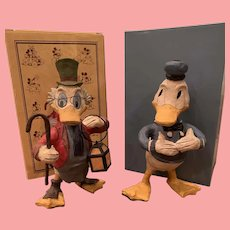Mint pair Disney Donald Duck and Uncle Scrooge