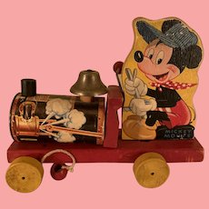 Vintage Disney Mickey Mouse pull toy