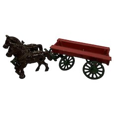 Vintage Stanley cast iron farm wagon