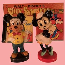 Vintage Disney Mickey and Minnie Mouse