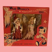 Vintage MIB Pinocchio and blue fairy dolls