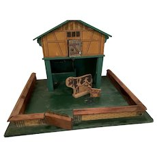 All original  little vintage German Barn