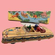 Vintage Disney linemar parade car