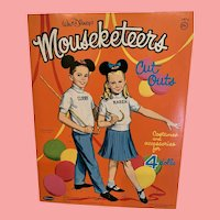 Mint 1963 Disney Mouseketeer paper dolls