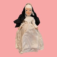 Vintage all original composition nun doll