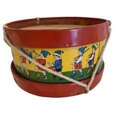 Cute vintage Chien toy drum