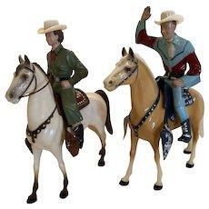 Vintage Hartland Roy Rogers and Dale Evans