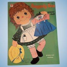 Vintage Raggedy Ann paper doll