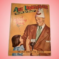 Vintage Art Linkletter coloring book
