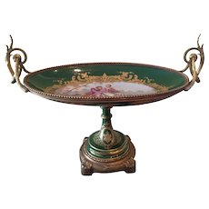 Beautiful  French Sevres style footed console bowl