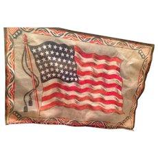 Large vintage American Flag felt