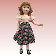 """20"""" Alexander Maggie in roses & rhinestone skirt!"""