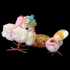 Vintage chenille Easter chicks