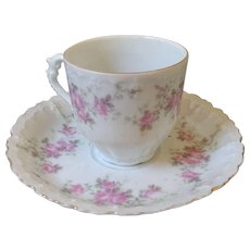 Vintage Austrian wild rose cup and saucer