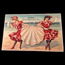 German 1907 Atlantic City views Post card