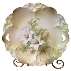 Gorgeous RS Prussia Lily Platter